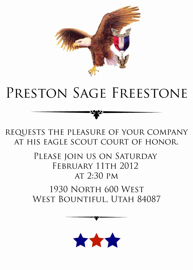 Free Eagle Scout Invitation Template Inspirational Same Eagle Scout Invitation Wording
