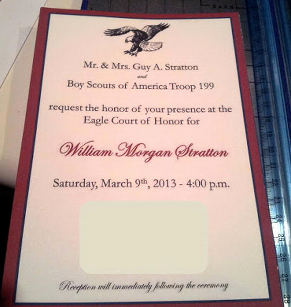 Free Eagle Scout Invitation Template Lovely 10 Cool Eagle Scout Invitations