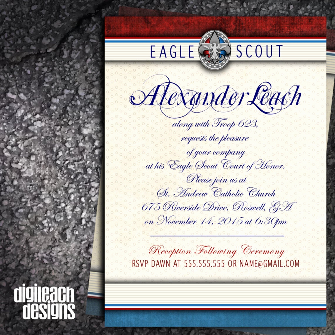 Free Eagle Scout Invitation Template Lovely Eagle Scout Court Of Honor Invitation formal by