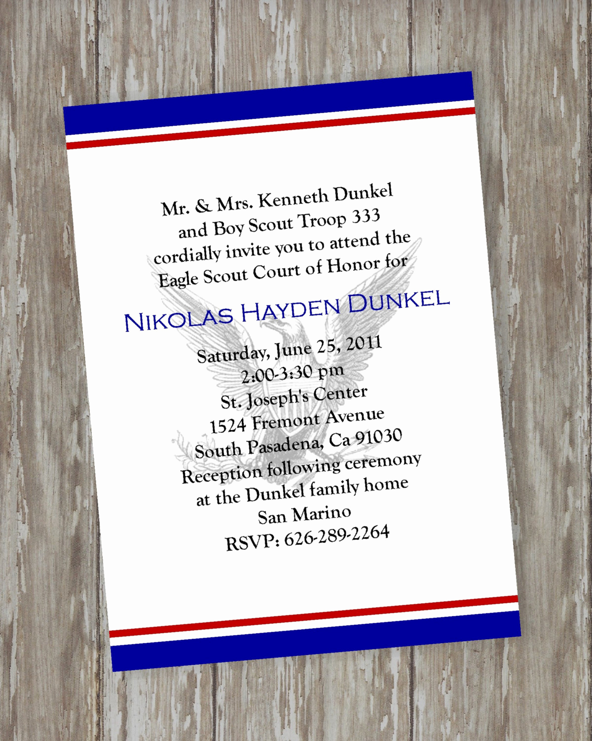 Free Eagle Scout Invitation Template Lovely Eagle Scout Court Of Honor Invitations by Itsallaboutthecards