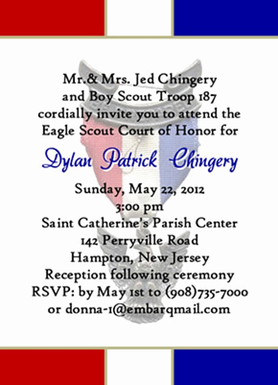 Free Eagle Scout Invitation Template Lovely Unavailable Listing On Etsy