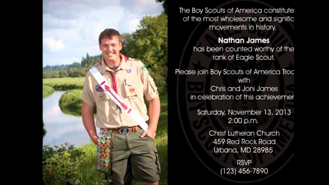 Free Eagle Scout Invitation Template New Eagle Scout Invitations Template Free