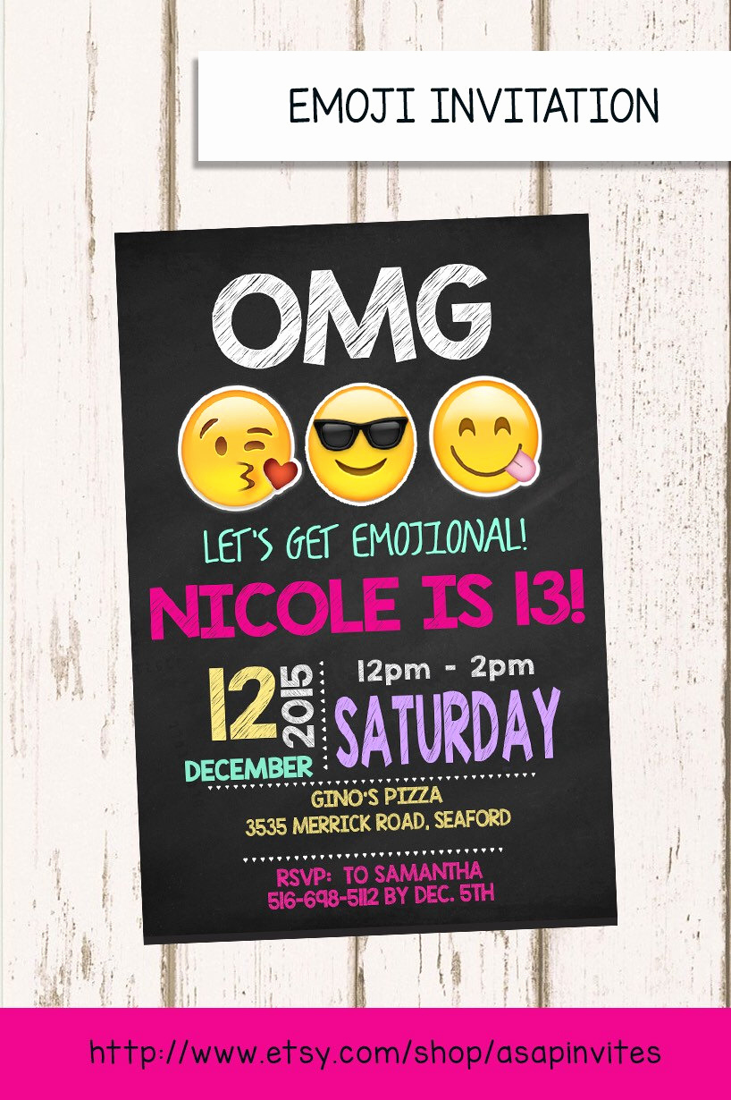 Free Emoji Invitation Template Awesome Emoji Birthday Invitation Emojis Emoji Invite Collectibles