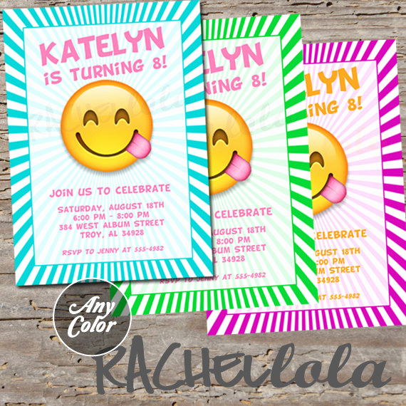 Free Emoji Invitation Template Elegant Emoji Invitation Printable Digital Print