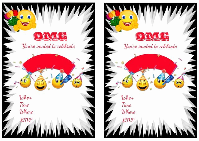 Free Emoji Invitation Template Lovely Emoji Birthday Invitations – Birthday Printable
