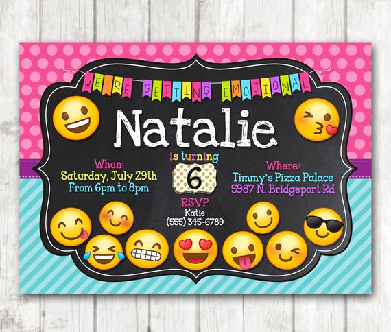 Free Emoji Invitation Template Lovely Printable Emoji Birthday Party Invitation Emoji Invitations