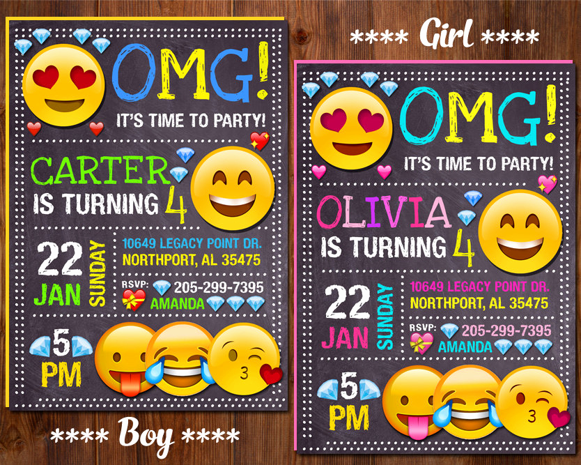 Free Emoji Invitation Template Luxury Emoji Invitation Emoji Birthday Invitation Emoji Party Girl