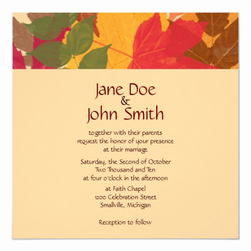 Free Fall Wedding Invitation Templates Best Of Fall Wedding Invitation Template