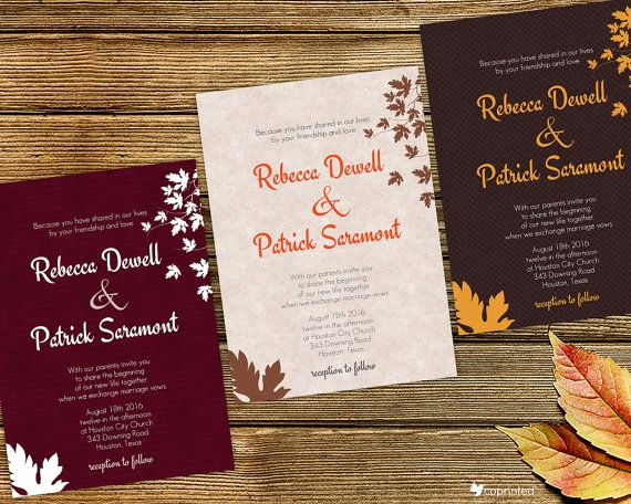 Free Fall Wedding Invitation Templates Best Of Free Wedding Invitation Template Free Printables Autumn