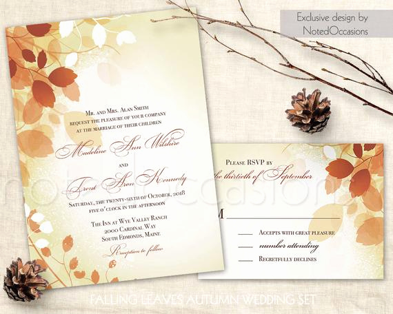 Free Fall Wedding Invitation Templates Inspirational Fall Wedding Invitations Leaves Printable Fall Invite Rystic