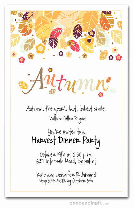 Free Fall Wedding Invitation Templates Lovely Autumn Season Invitations Fall Invitations