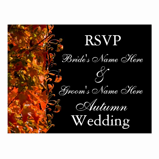 Free Fall Wedding Invitation Templates Lovely Fall Wedding Invitation Template Autumn Wedding Postcard