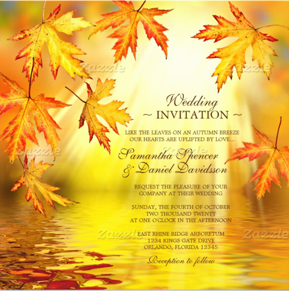 Free Fall Wedding Invitation Templates Luxury 26 Fall Wedding Invitation Templates – Free Sample