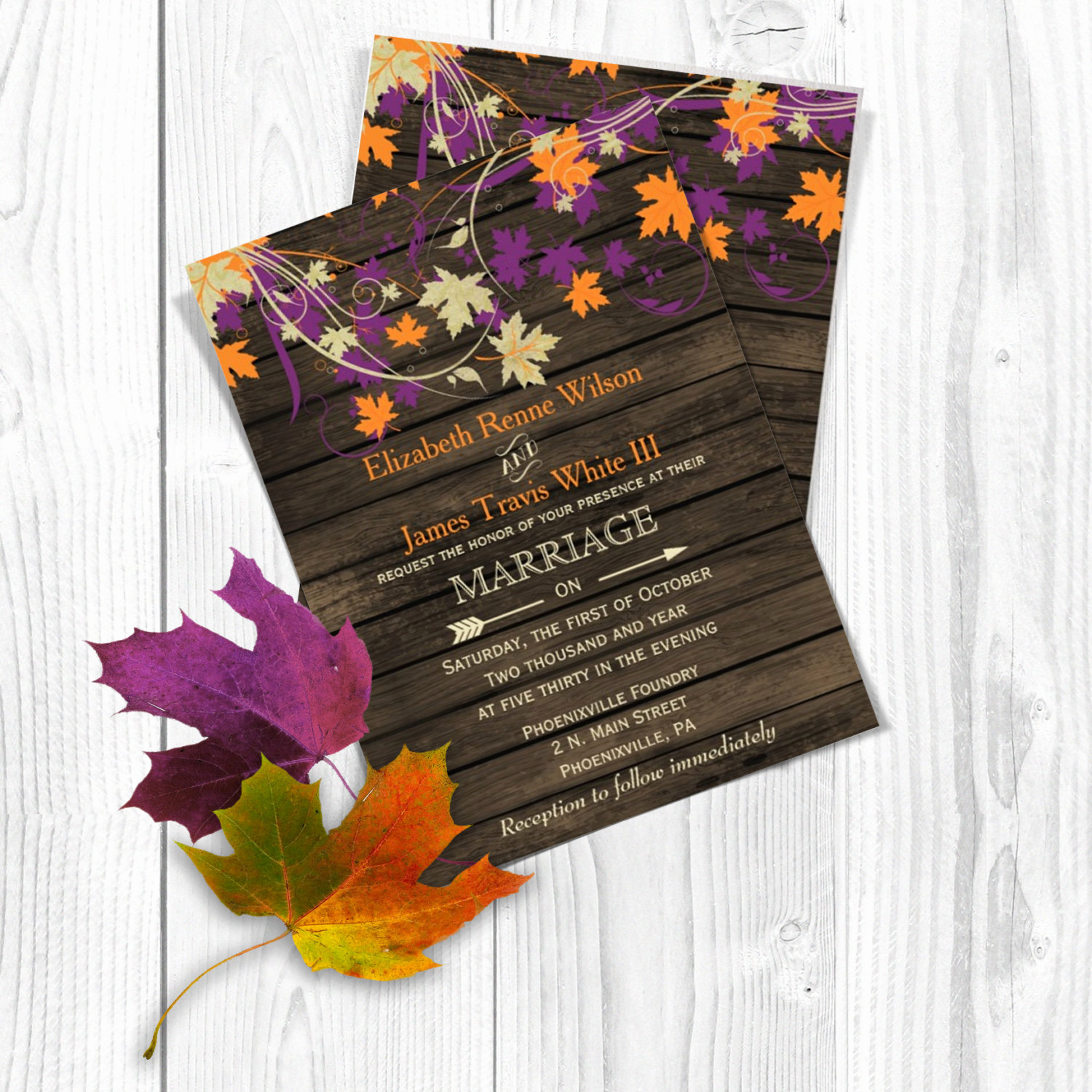 Free Fall Wedding Invitation Templates Luxury Printable Wedding Invitation Template Fall Wedding