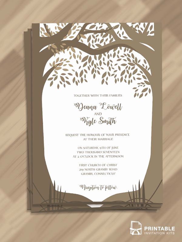 Free Fall Wedding Invitation Templates New Free Editable and Printable Pdf Wedding Invitation