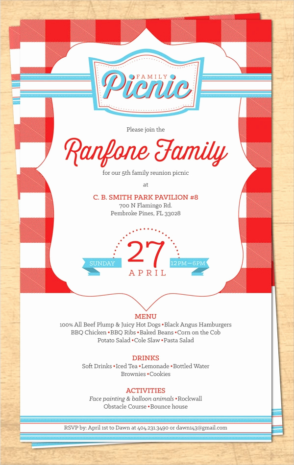 Free Family Reunion Invitation Templates Awesome 16 Sample Family Reunion Invitations Psd Vector Eps
