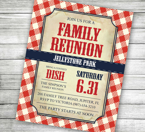 Free Family Reunion Invitation Templates Awesome 35 Family Reunion Invitation Templates Psd Vector Eps