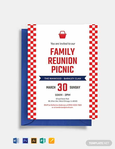 Free Family Reunion Invitation Templates Elegant Free Family Reunion Picnic Invitation Template Download