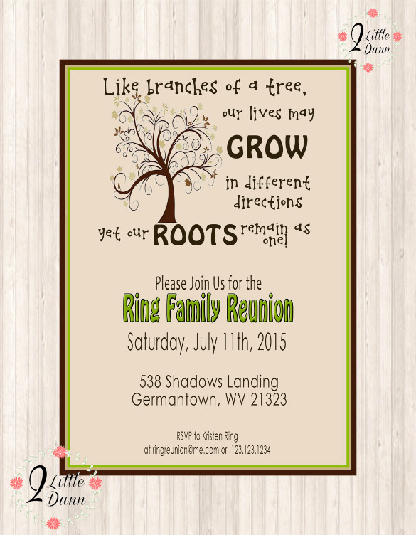 Free Family Reunion Invitation Templates Inspirational 35 Family Reunion Invitation Templates Psd Vector Eps
