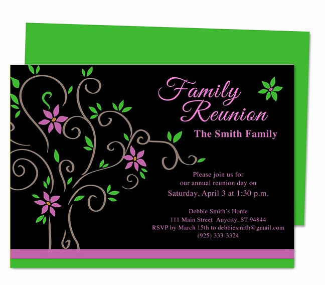 Free Family Reunion Invitation Templates Inspirational Best 25 Family Reunion Invitations Ideas On Pinterest