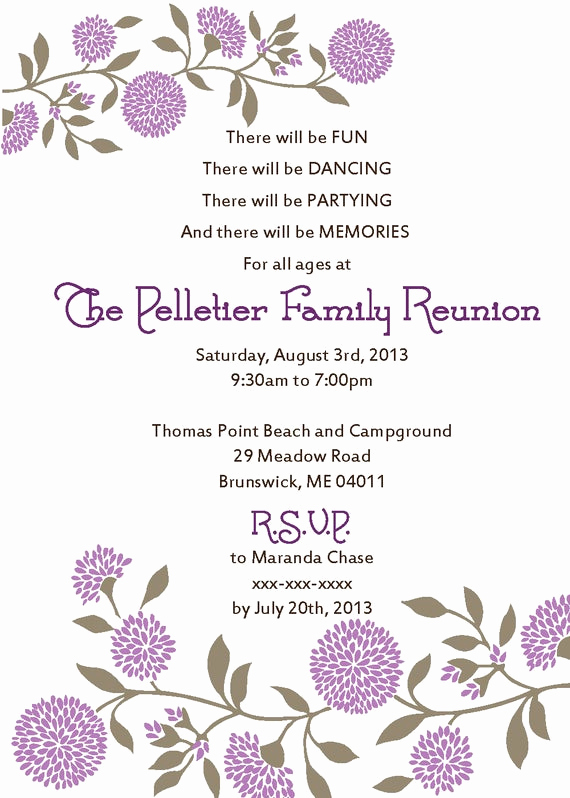 Free Family Reunion Invitation Templates Lovely Family Reunion Invitation