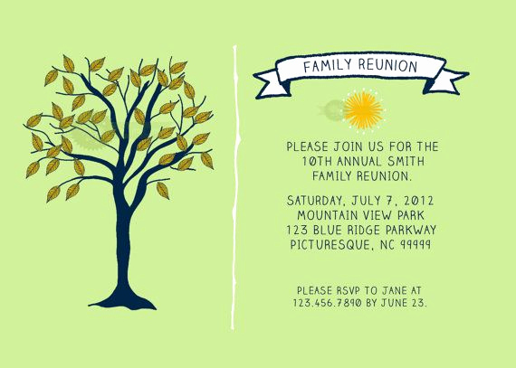 Free Family Reunion Invitation Templates Luxury 24 Best Family Reunion Images On Pinterest
