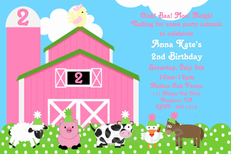 Free Farm Birthday Invitation Templates Awesome Cute Farm – Free Printable Birthday Invitation Templates