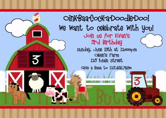 Free Farm Birthday Invitation Templates Awesome Download Barnyard Birthday Invitations Ideas
