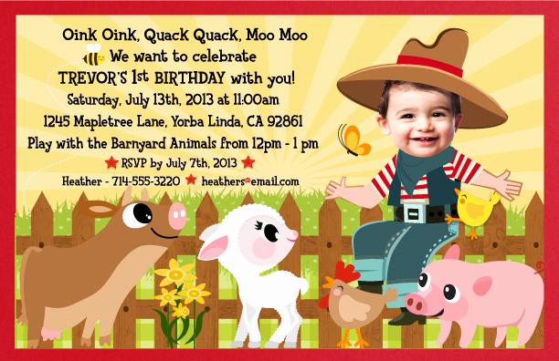 Free Farm Birthday Invitation Templates Best Of Farm Barnyard Birthday Invitations – Free Printable