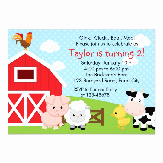 Free Farm Birthday Invitation Templates Best Of Farm Birthday Invitation Boy Blue Barnyard