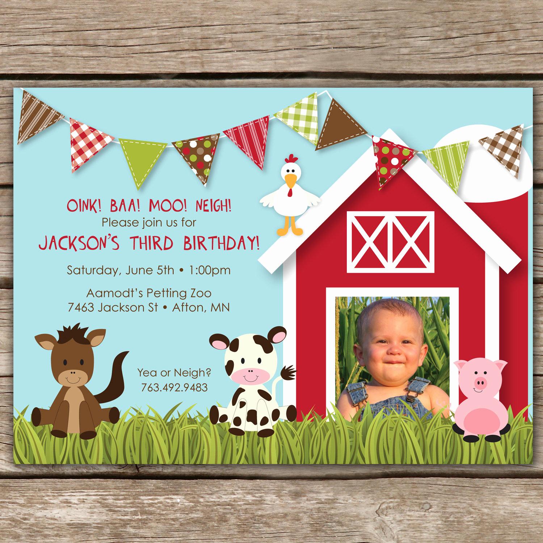Free Farm Birthday Invitation Templates Best Of Farmyard Fun Custom Birthday Invitation for Any Age