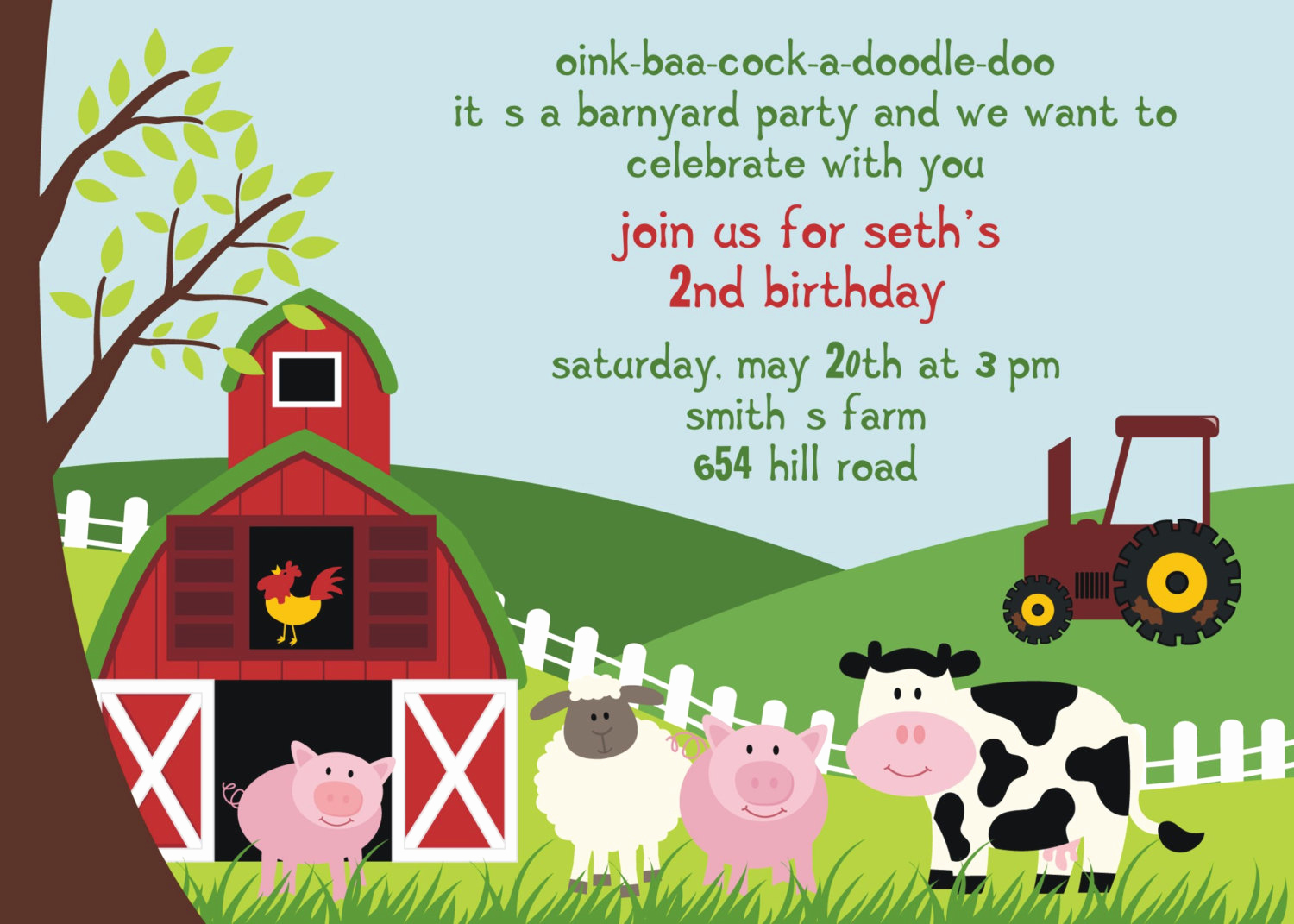 Free Farm Birthday Invitation Templates Lovely Free Birthday Party Invitation Templates