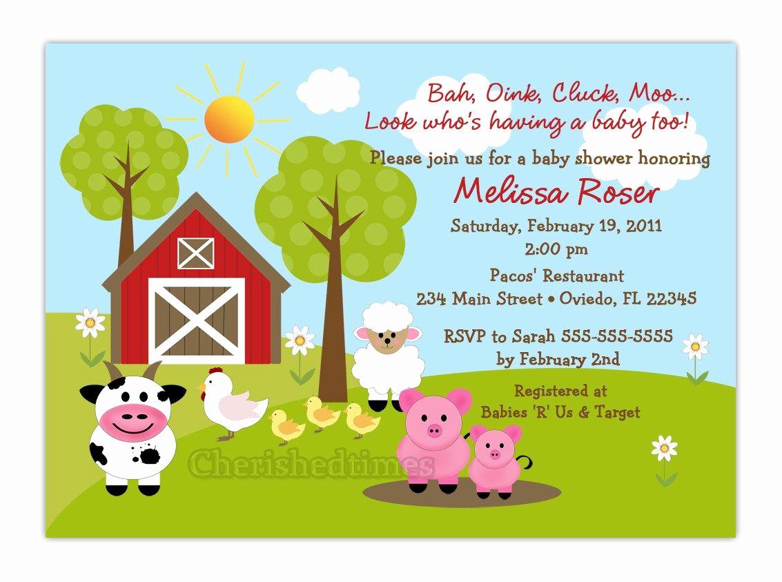Free Farm Birthday Invitation Templates Lovely Free Printable Barnyard Farm Invitation Template Like