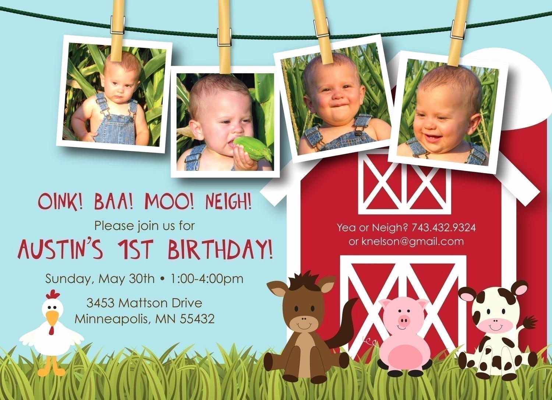 Free Farm Birthday Invitation Templates New Farm Birthday Invitations Wording