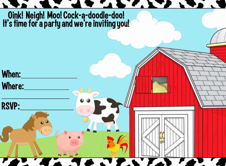 Free Farm Birthday Invitation Templates Unique 40th Birthday Ideas Birthday Invitation Templates Sparklebox