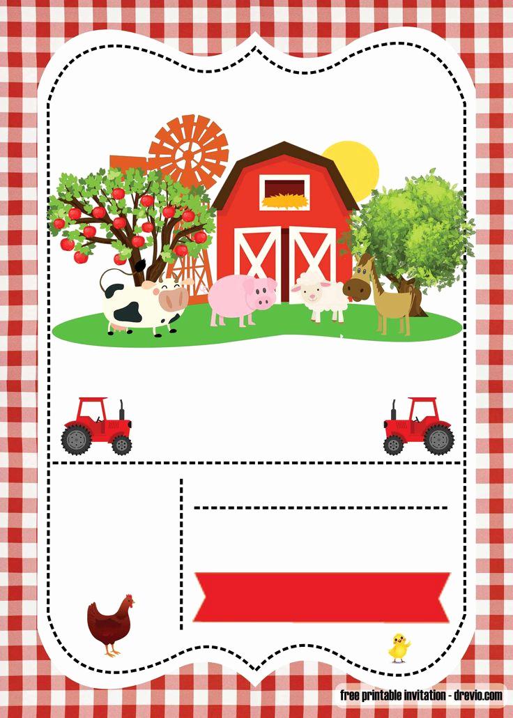 Free Farm Birthday Invitation Templates Unique Free Farm Party Invitation Template