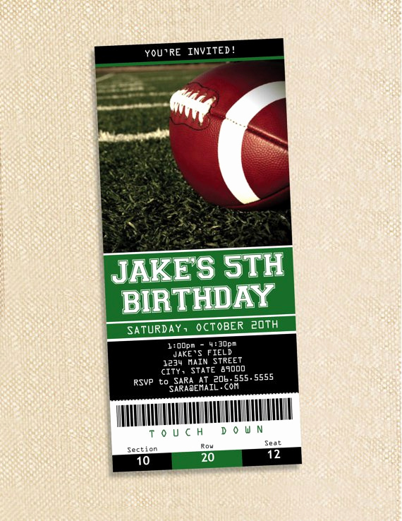 Free Football Ticket Invitation Template Fresh Free Printable Football Invitations Templates