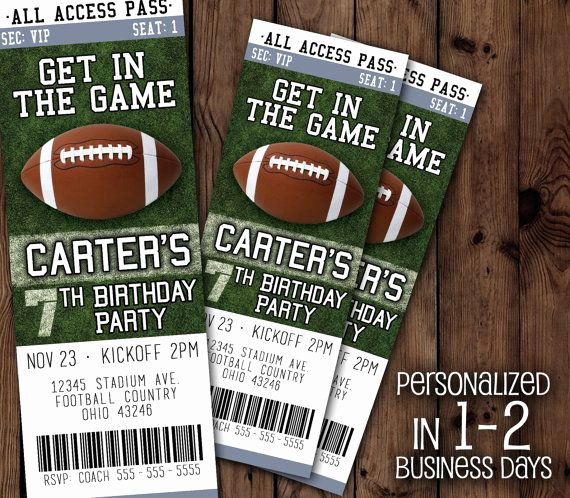 Free Football Ticket Invitation Template Luxury Best 25 Fall Football Ideas On Pinterest