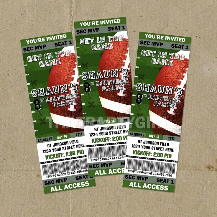Free Football Ticket Invitation Template New Best 25 Party Tickets Ideas On Pinterest