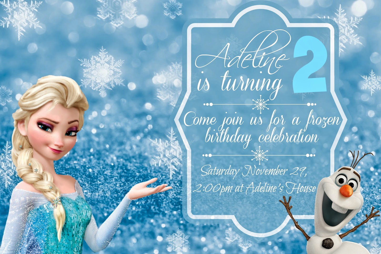 Free Frozen Invitation Templates Beautiful orchard Girls Free Frozen Birthday Party Invitations and