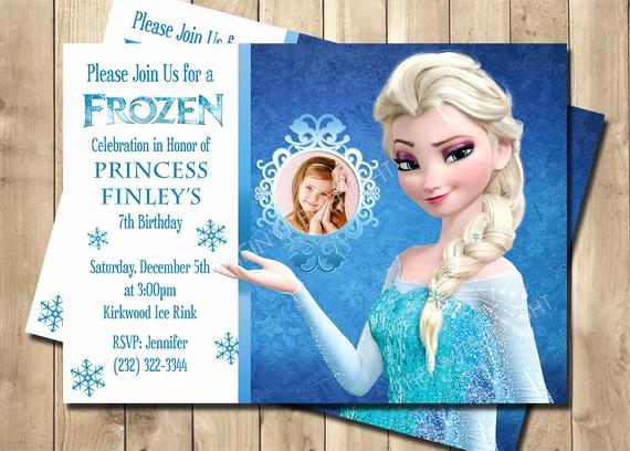 Free Frozen Invitation Templates Elegant Frozen Elsa Birthday Invitation Frozen Birthday Invitation