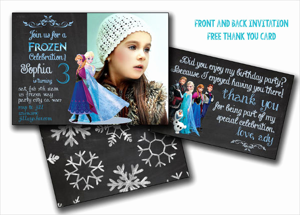 Free Frozen Invitation Templates New 13 Frozen Invitation Templates Word Psd Ai