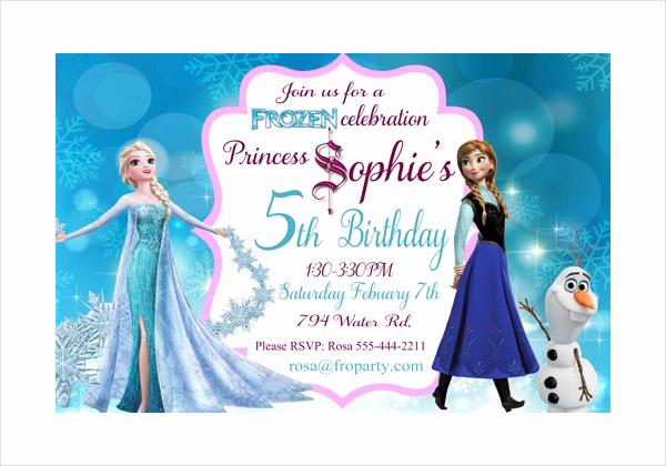 Free Frozen Invitation Templates New 13 Frozen Invitation Templates Word Psd Ai