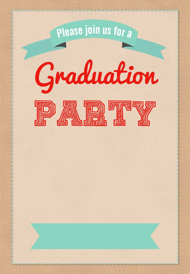Free Grad Party Invitation Templates Awesome Graduation Party Free Printable Party Invitation