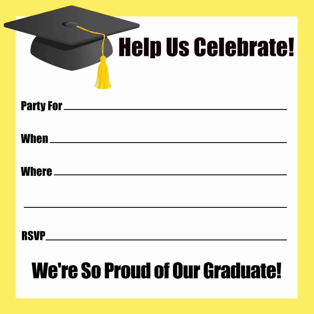 Free Grad Party Invitation Templates Elegant Free Printable Graduation Party Invitations Templates