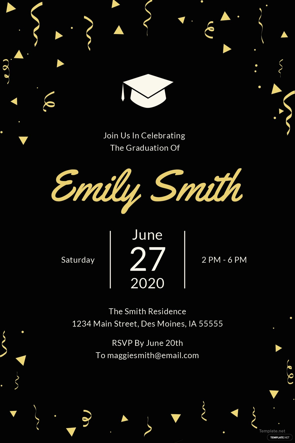 Free Grad Party Invitation Templates Inspirational Free Graduation Invitation Template In Microsoft Word