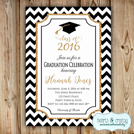 Free Grad Party Invitation Templates Inspirational Graduation Party Invitation College by Heartsandcraftsy On