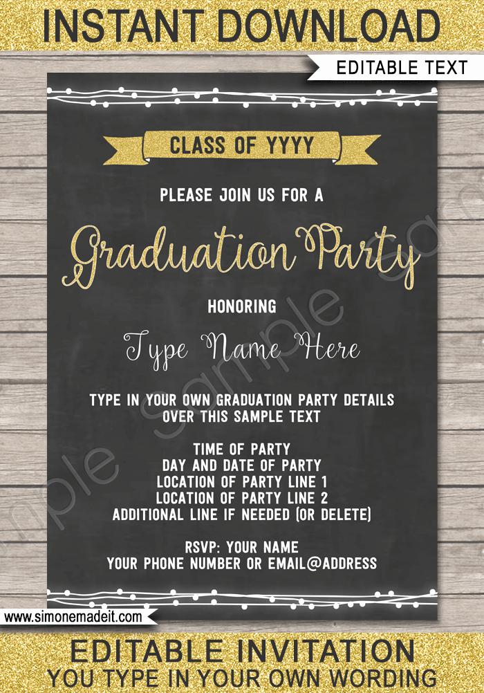 Free Grad Party Invitation Templates Lovely Graduation Party Invitations