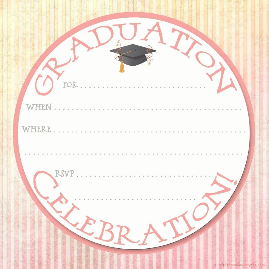 Free Grad Party Invitation Templates Unique 40 Free Graduation Invitation Templates Template Lab