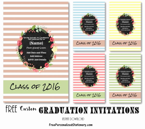 Free Graduation Invitation Maker Fresh Graduation Invitations